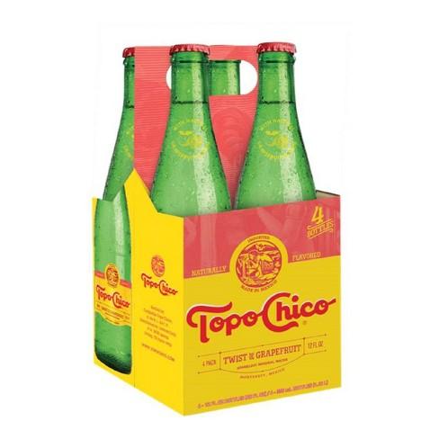 Topo Chico Grapefruit Water - 4pk/12 fl oz Glass Bottles - image 1 of 1