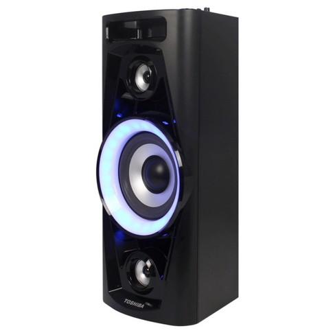 Toshiba Rechargeable Bluetooth Streaming Party Speaker System with Microphone and Karaoke Options - Black (TY-ASC40) - image 1 of 1