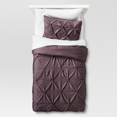 Lavender Pinched Pleat Comforter Set (Twin Extra Long)2pc - Threshold™