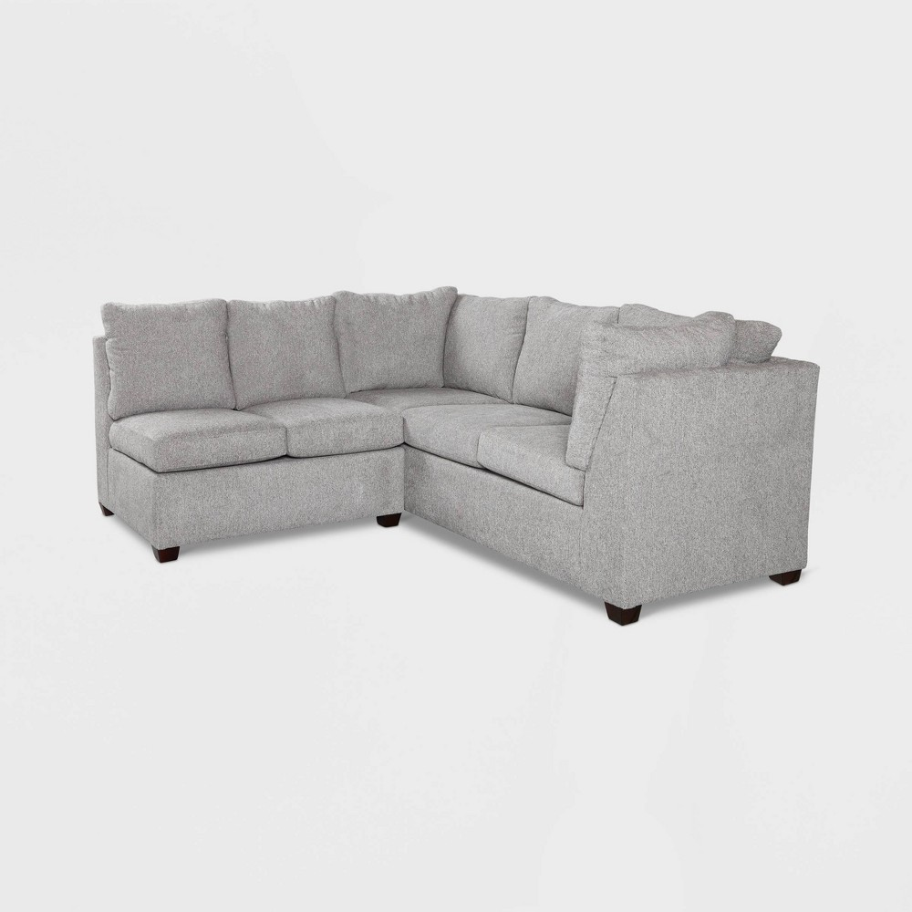 Image of 2pc Medford Sectional Sofa Gray - Threshold