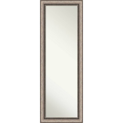 Lyla Ornate Framed Full Length On the Door Mirror Silver - Amanti Art