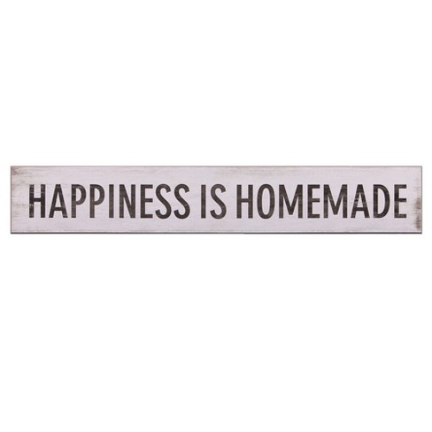 "6""x36"" Happiness Is Homemade Wood Wall Art White - Patton Wall Decor - image 1 of 4"
