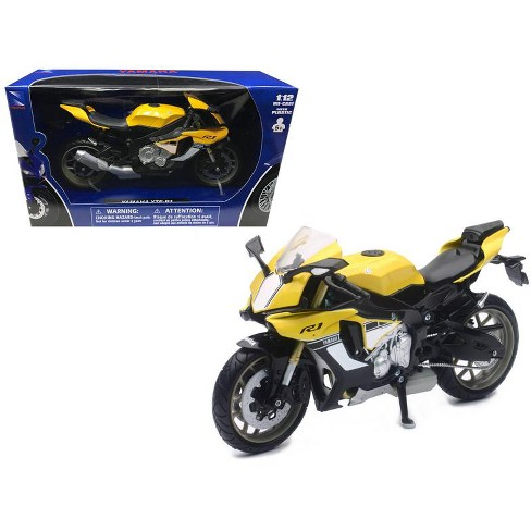 2016 Yamaha YZF-R1 Yellow Motorcycle Model 1/12 by New Ray - image 1 of 1