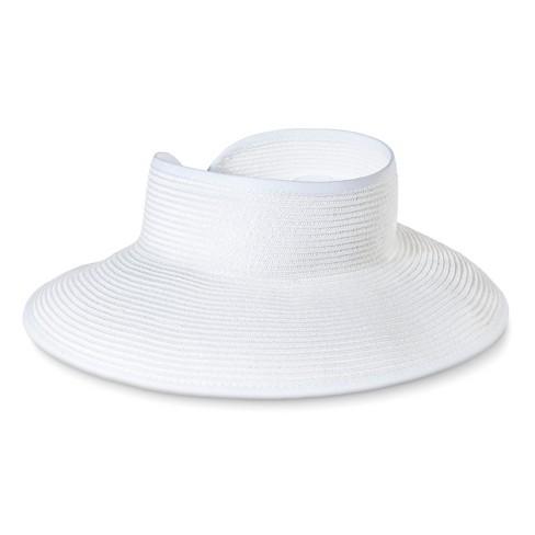 Women s Roll Up Visor Wrap Hat - Merona™ White   Target 39b8cbd41e3
