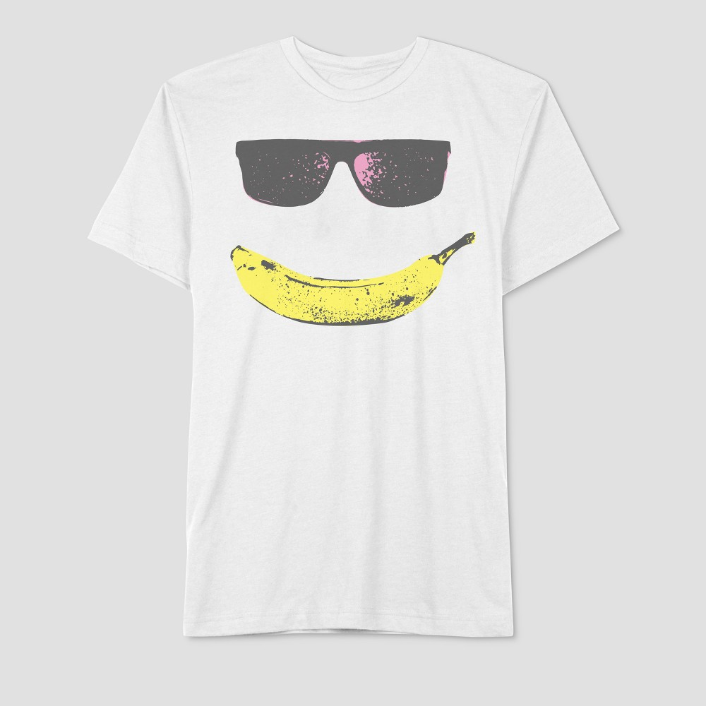 Well Worn Men's Short Sleeve Smile T-Shirt - True White Xxl