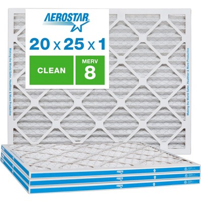 Aerostar AC Furnace Air Filter - Dust - MERV 8 - Box of 4