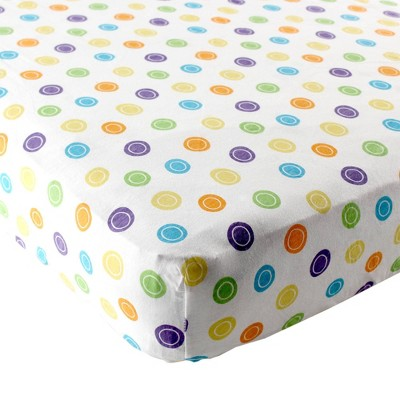 Luvable Friends Unisex Baby Fitted Crib Sheet - Yellow Geometric One Size