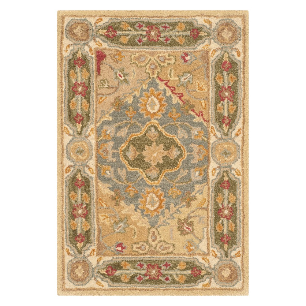 2'3X4' Floral Accent Rug Ivory - Safavieh, Multi-Colored/Ivory