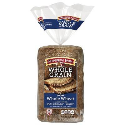 Pepperidge Farm® Whole Grain 100% Whole Wheat Bread, 24oz Bag