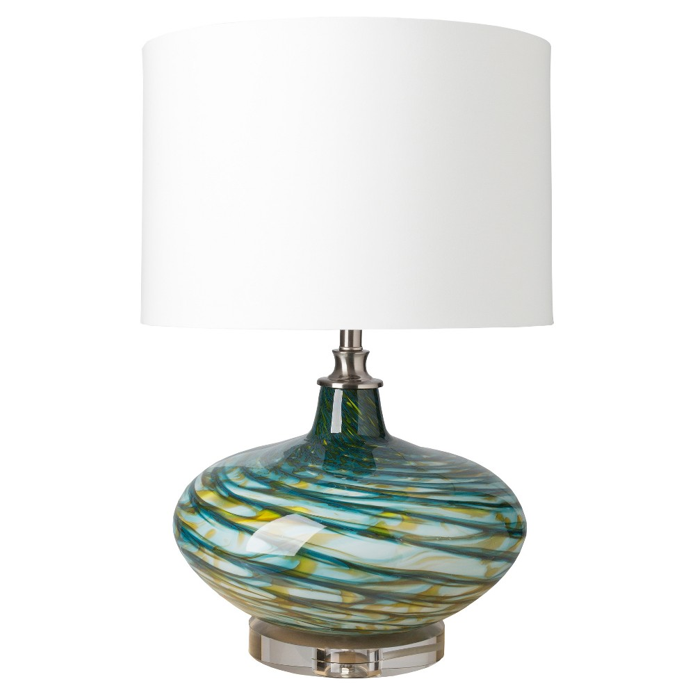Ilchester Table Lamp Aqua & Yellow (Lamp Only) - Surya