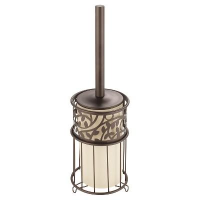 Vine Toilet Bowl Brush And Holder Set Bronze - iDESIGN
