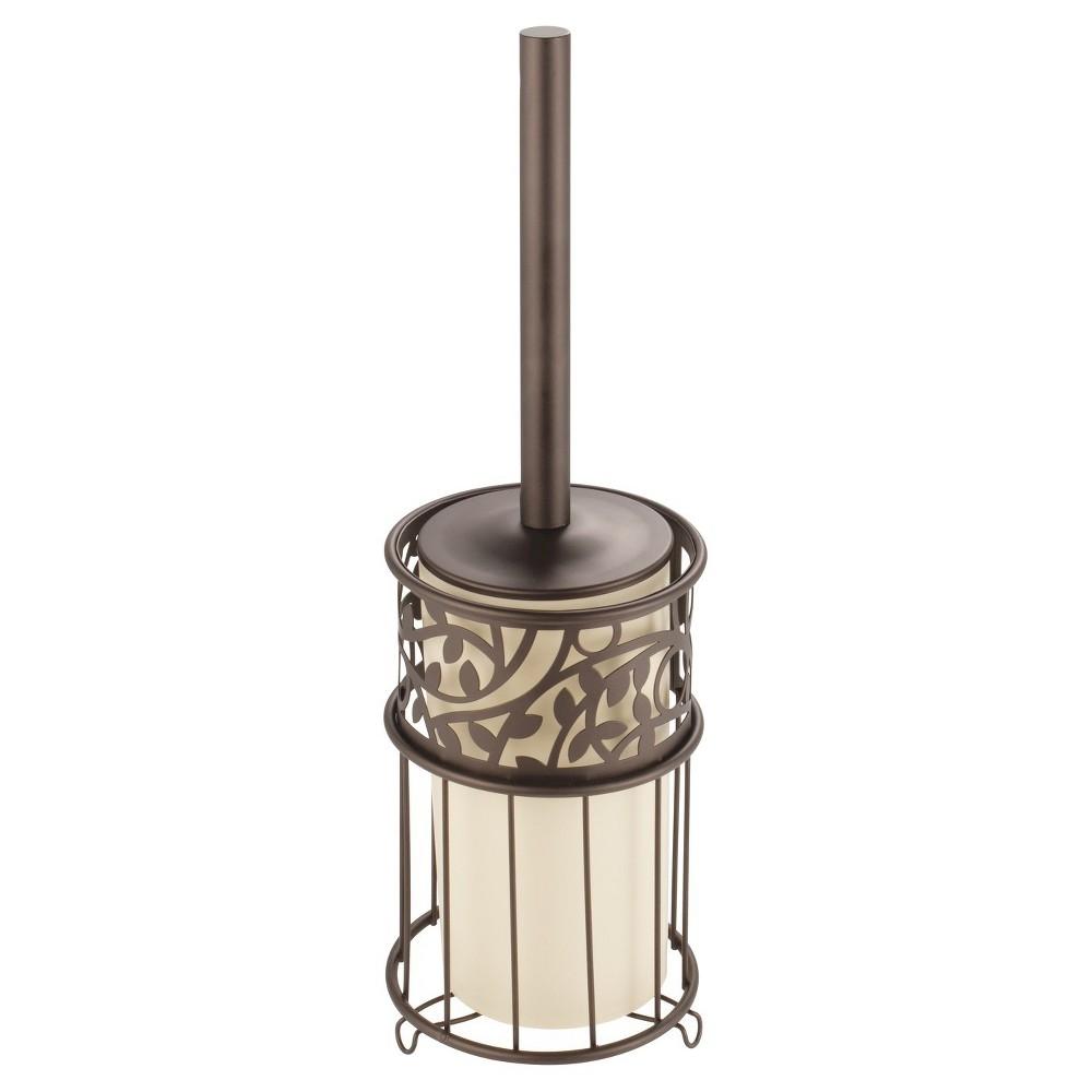 Image of Vine Toilet Bowl Brush And Holder Set Bronze - iDESIGN