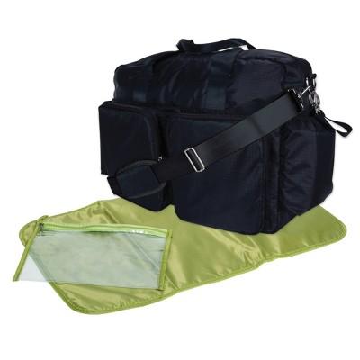 Trend Lab Deluxe Duffel Diaper Bag - Black