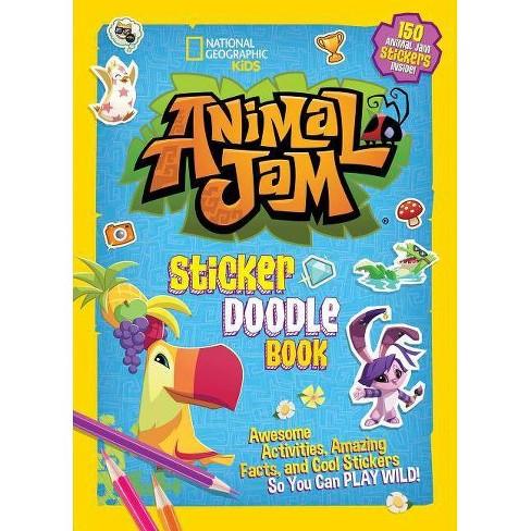 Animal Jam Sticker Doodle Book - (Paperback) - image 1 of 1