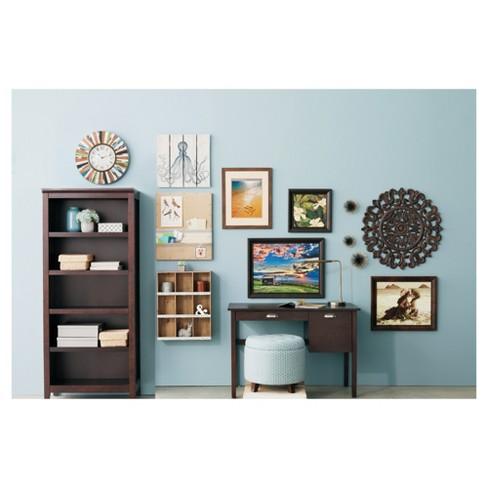 72 Carson 5 Shelf Bookcase Espresso Brown