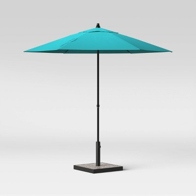 7.5' Round Patio Umbrella Aqua - Room Essentials™