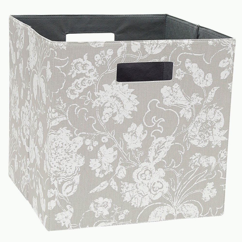 13 Cube Storage Bin Floral Gray - Threshold