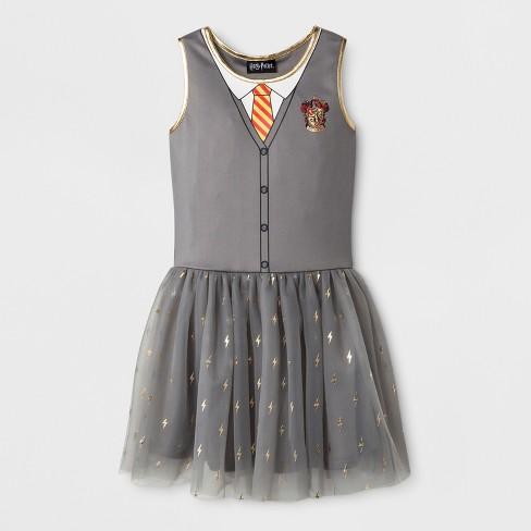 0d140fc26e2 Girls  Harry Potter Gryffindor Costume Dress - Gray Black XS   Target
