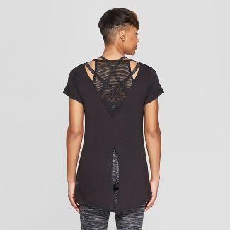 Women's Mesh and Tie Back T-Shirt - C9 Champion® Black S