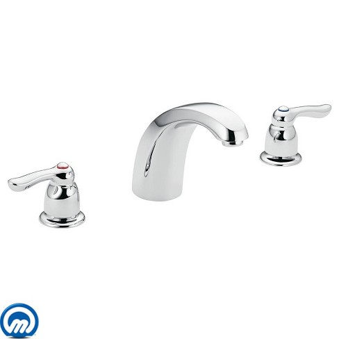 Moen T994 Deck Mounted Roman Tub Filler Trim from the Chateau Collection (Less Valve) - image 1 of 1
