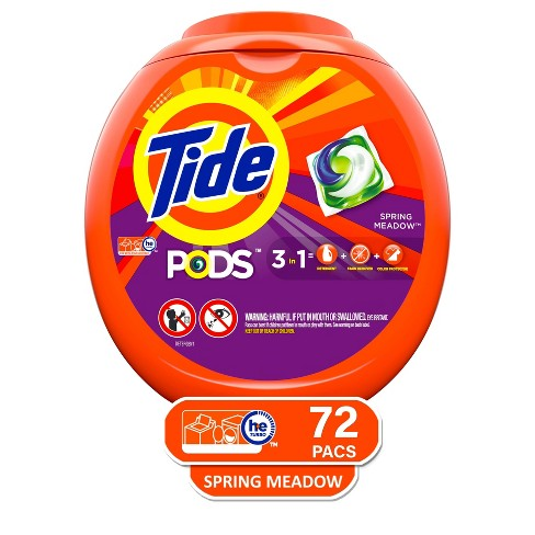 Tide PODS Laundry Detergent Pacs Spring Meadow - 72ct - image 1 of 3