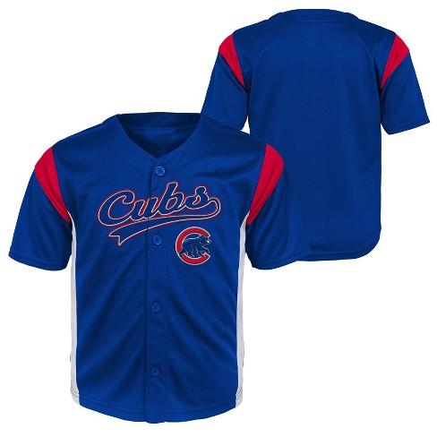 san francisco 3cc62 57c70 Chicago Cubs Baby Boys' Short Sleeve Button-Down Team Jersey ...