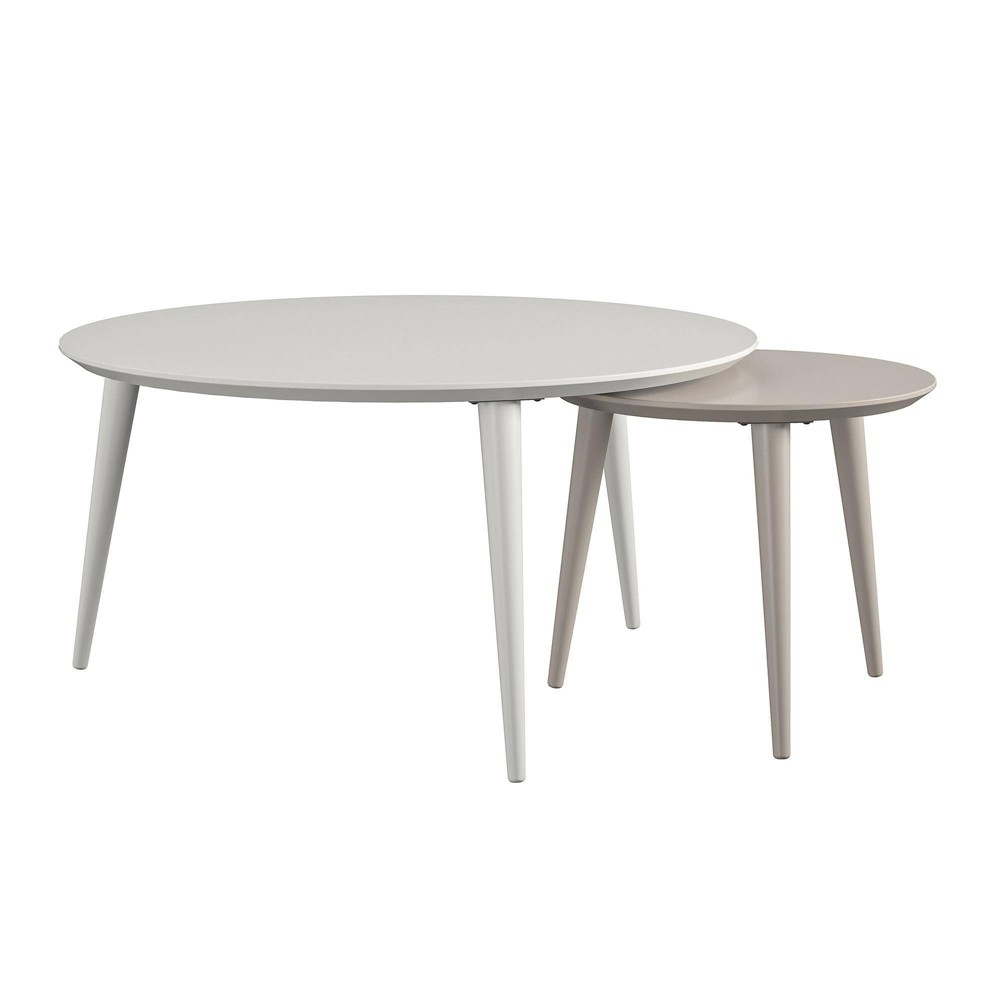Image of Carnegie Nesting Tables White - CosmoLiving by Cosmopolitan
