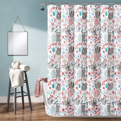 "72""x72"" Hygge Sloth Shower Curtain Single - Lush Décor"