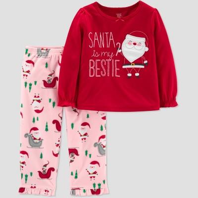 15fe31d02267 Toddler Girls  Santa s Bestie 2pc Pajama Set - Just   Target