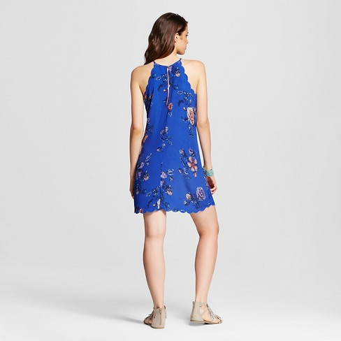 1ef53f99f4 Women s Scallop High-neck Shift Dress - Xhilaration™ Dazzling Blue XXL    Target