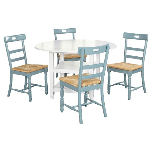 Target Marketing Sys Dining Table Set Antique Blue