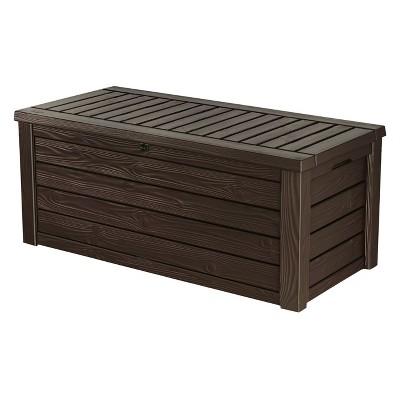 150 gallon Deck Box 25.4 H - Brown - Keter