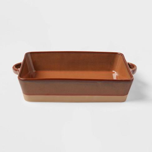 """13"""" x 8"""" Stoneware Casserole Baking Dish Orange - Threshold™ - image 1 of 3"""