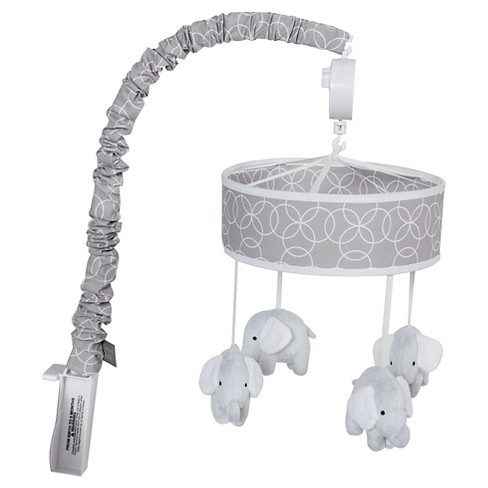 Trend Lab Gray Circles with Elephants Crib Mobile - image 1 of 2