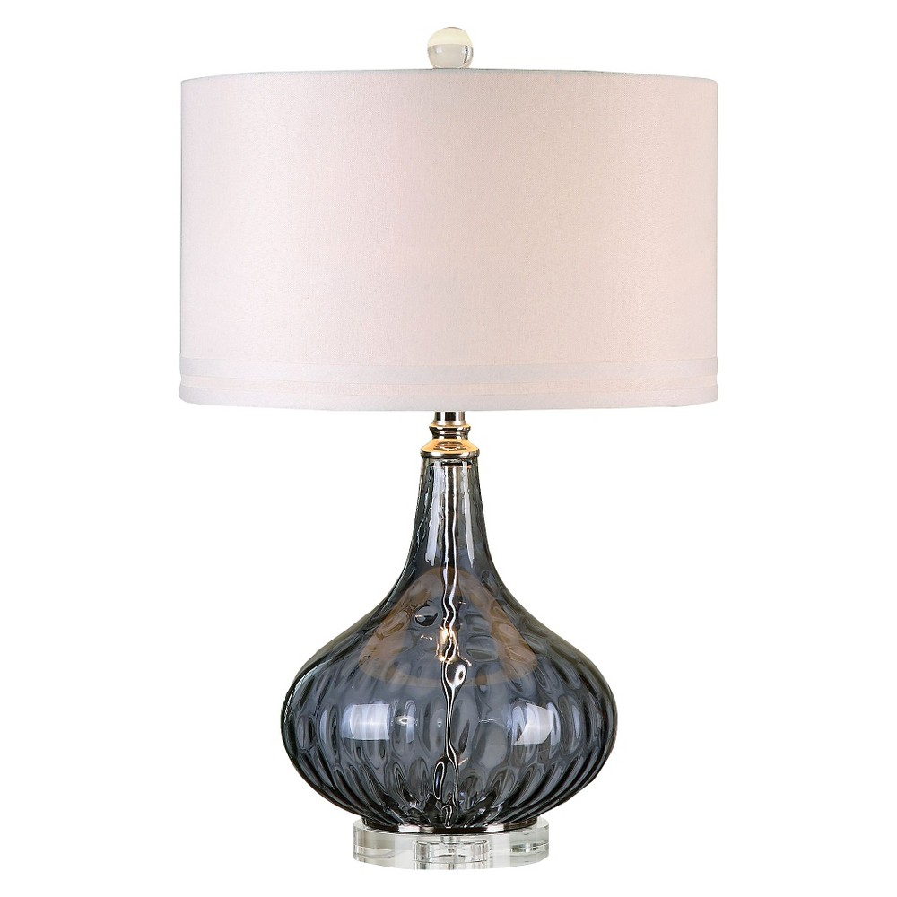 Image of Uttermost Sutera Water Glass Table Lamp - Black Currant