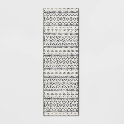 Diamond Printed Accent Aztec Rug Black - Opalhouse™