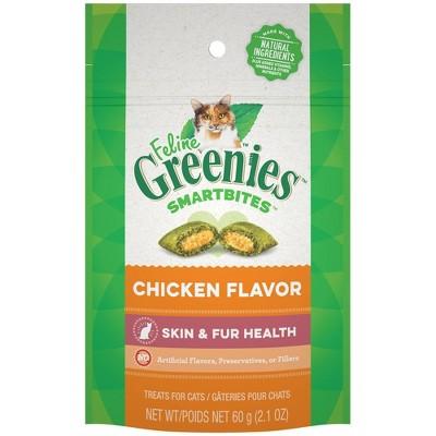Greenies Smartbites Skin and Fur Health Chicken Flavor Cat Treats