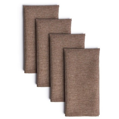 "4pk 20""X20"" Somers Napkins Brown - Town & Country Living"