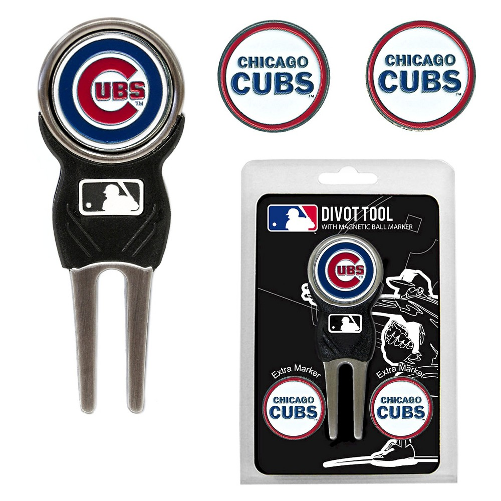 MLB 2 Divot Tool Pack with Signature Tool Golf Accessories Set Chicago Cubs