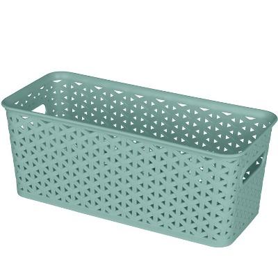 Y-Weave 5 x6  Medium Rectangle Jade Green - Room Essentials™