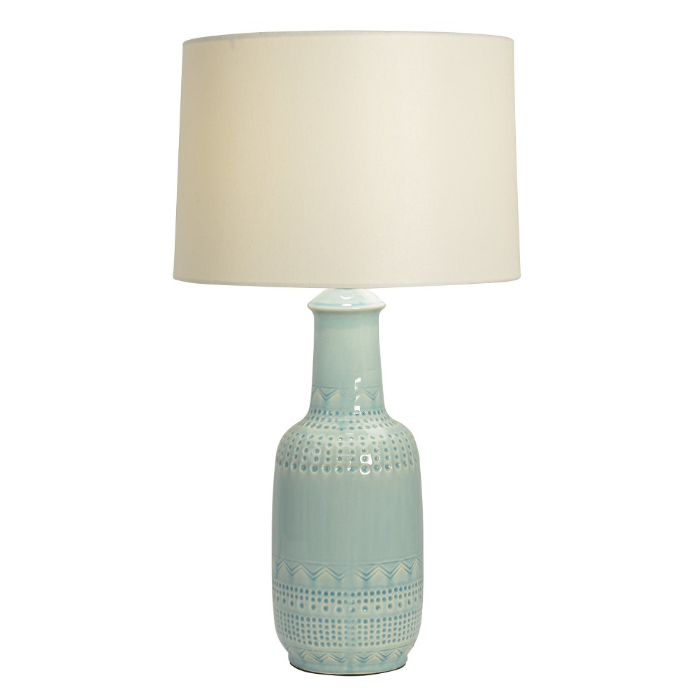 27 Patterned Ceramic Desk Lamp Green - Decor Therapy Promos
