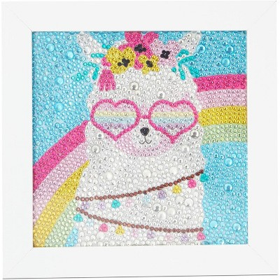 """Bright Creations Llama 5D Diamond Painting Kits with Frame, DIY Arts and Crafts Home Wall Decor for Kids, 6"""" x 6"""""""