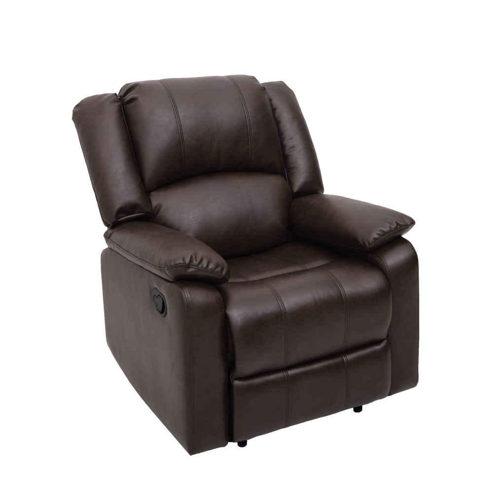 Image of Paloma Faux Leather Recliner Chair Dark Brown - Relax A Lounger