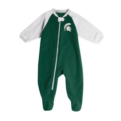 Michigan State Spartans Baby Boys' Long Sleeve Blanket Sleeper - 3-6M