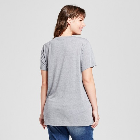 3a2c1ba2c1e Women s Plus Size Blessed Graphic T-Shirt Gray - Modern Lux   Target