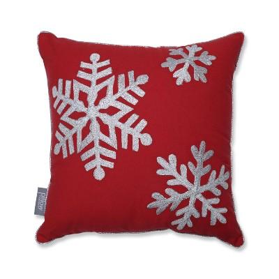 """16""""x16"""" Falling Snowflakes Square Throw Pillow - Pillow Perfect"""