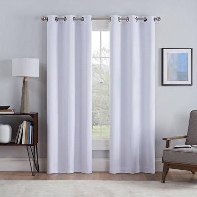 Set of 2 Talisa Absolute Zero and Draft Blocker Blackout Curtain Panels - Eclipse