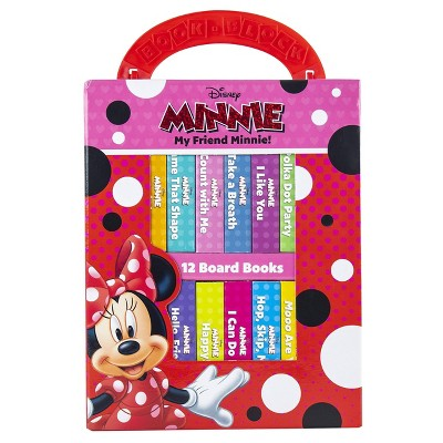Disney My Friend Minnie Mouse My First Library 12 Board Book Set - by Emily Skwish (Board Book)