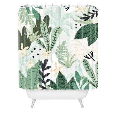 Gale Switzer Into the Jungle Shower Curtain Green - Deny Designs