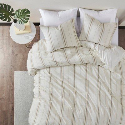 Camden Organic Cotton Yarn Dyed Oversized Duvet Set- Clean Spaces